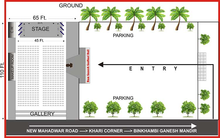 Ram Ganesh Gadkari Hall Stage Layout & Dimensions